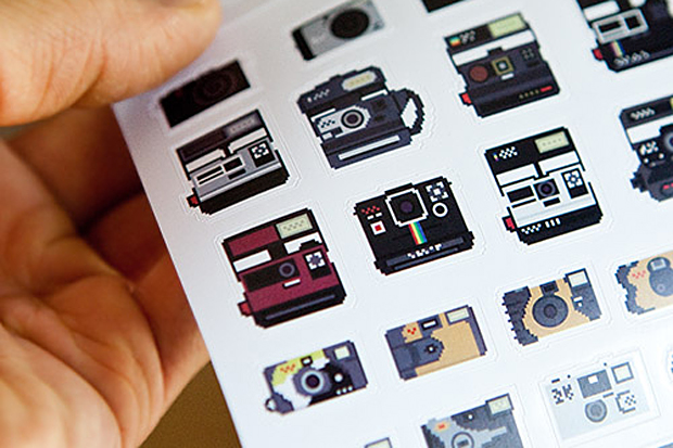 camera stickers by billy brown