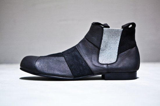 Comme de Garcon Chelsea Patchwork Boot