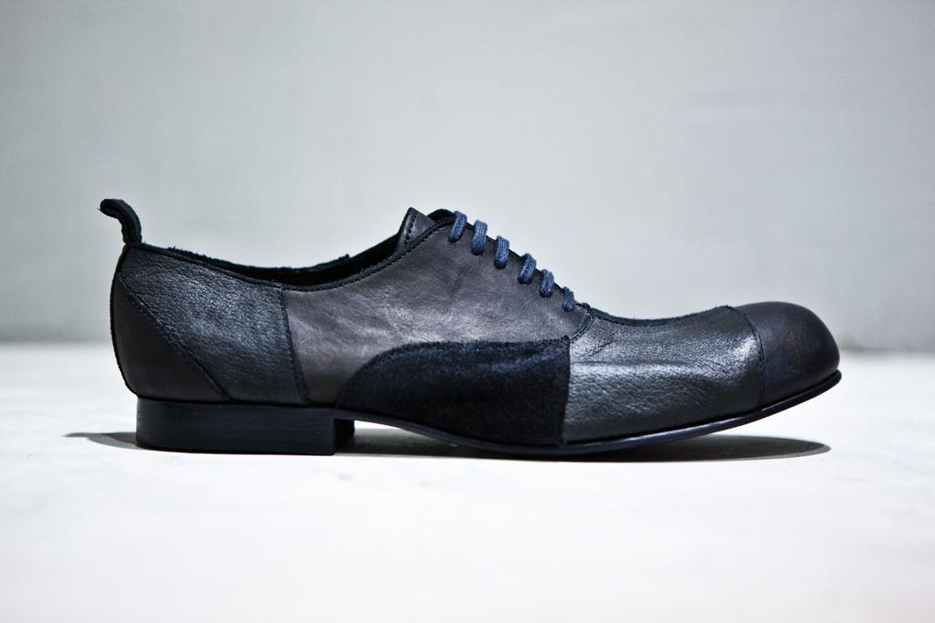 comme des garcons homme plus patchwork lace up shoes