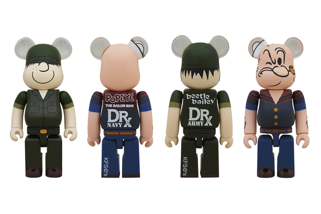 Dr. Romanelli x Medicom Toy Beetle Bailey & Popeye Bearbricks