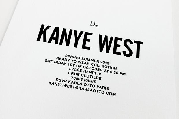 Dw by Kanye West 2012 Spring/Summer Presentation Invite