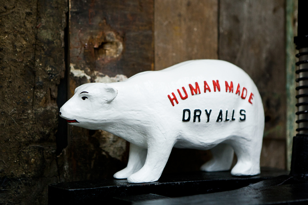 human made polar bear figure