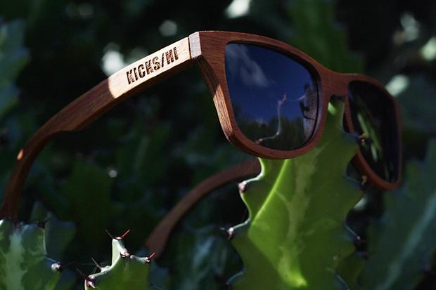kickshi x shwood 10th anniversary koa wood canby sunglasses