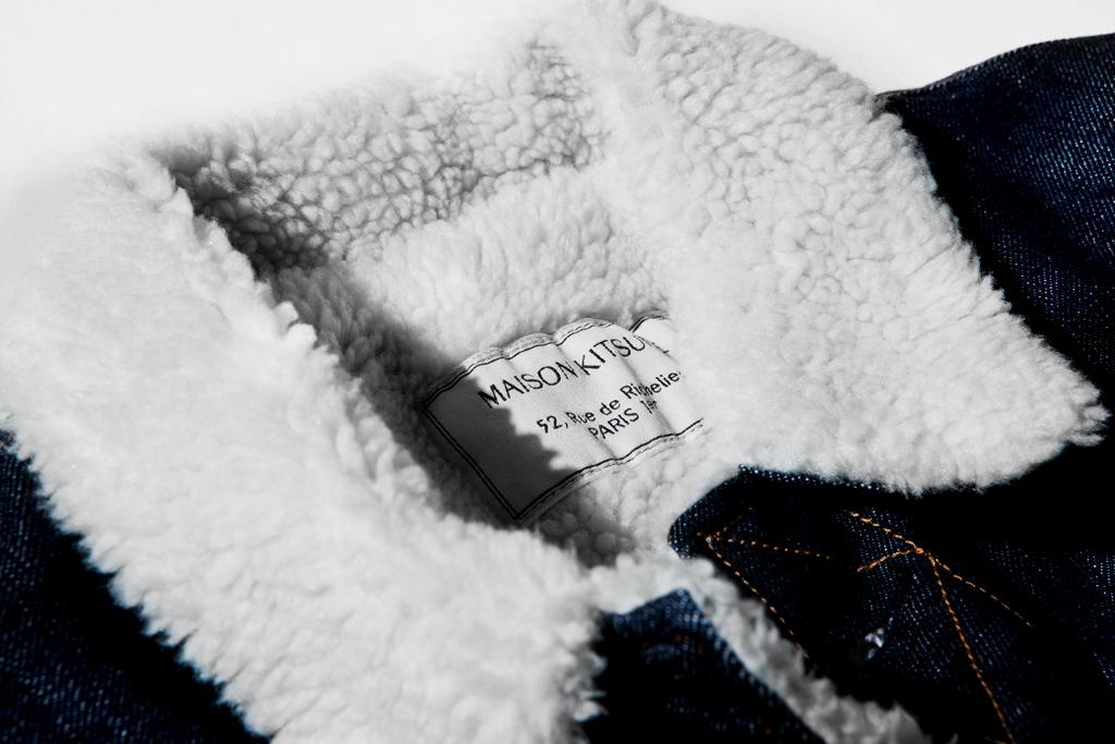 Kitsuné Shearling Denim Jacket