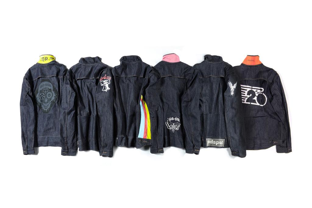 levis bike crews custom trucker jackets