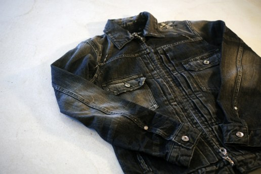 mastermind JAPAN Washed Denim Jacket