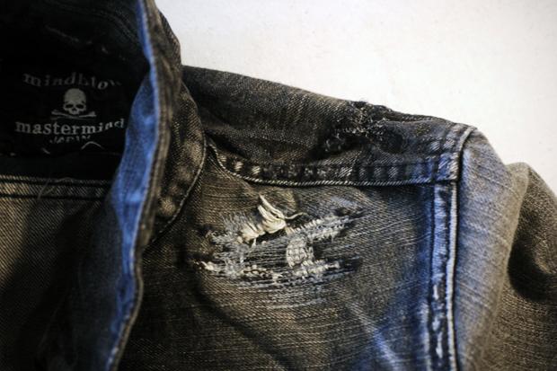 mastermind JAPAN Washed Denim Jacket