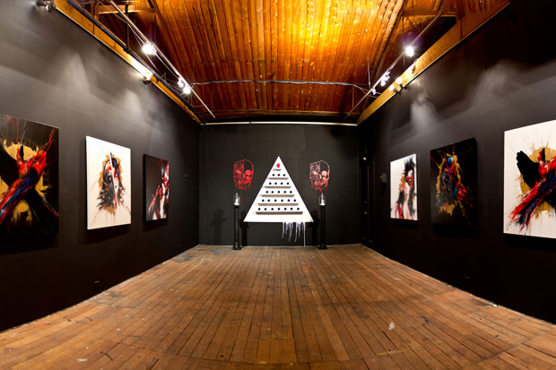 meggs inner demons ii exhibition recap at backwoods gallery