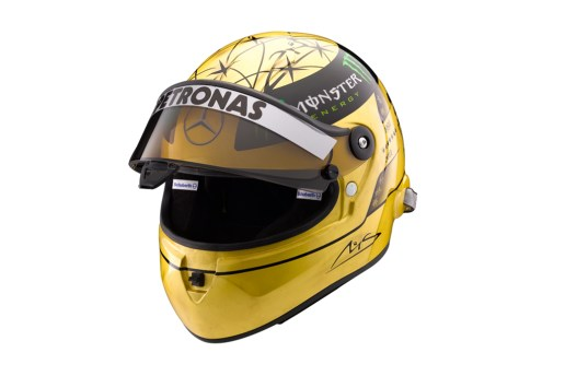 Michael Schumacher x Schuberth 20th Anniversary Gold F1 Helmet