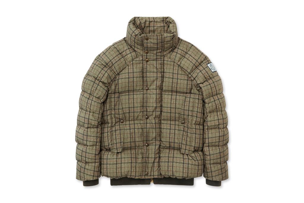 moncler gamme bleu check down jacket