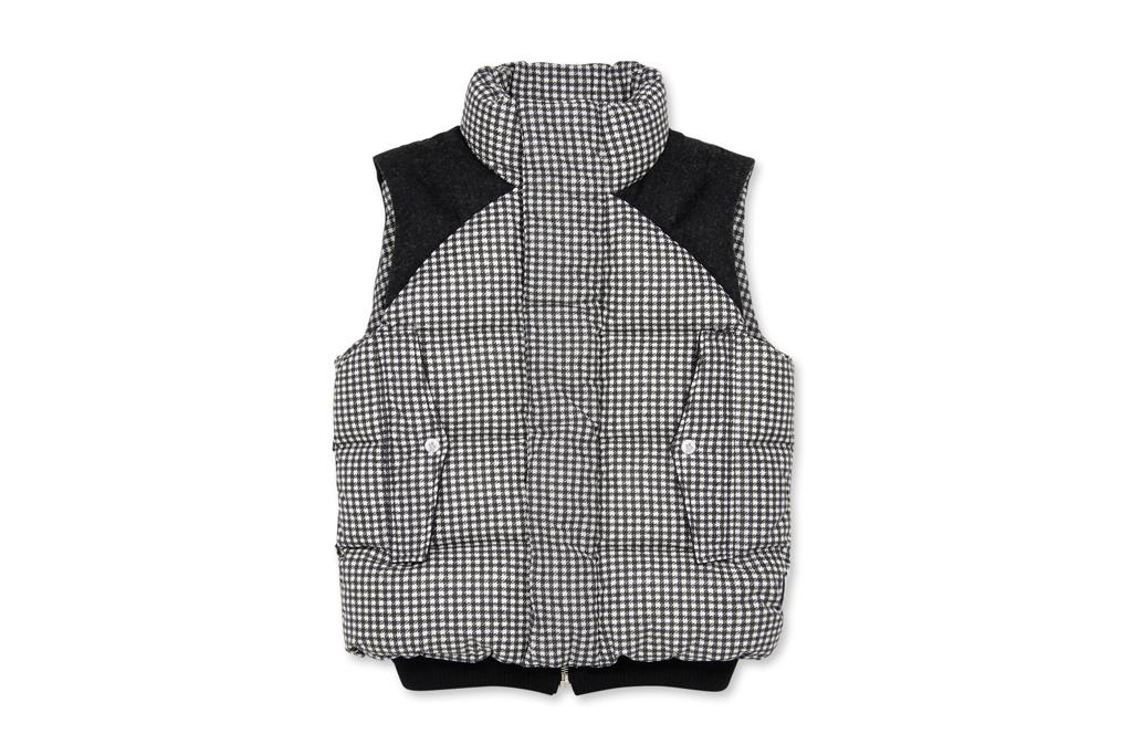 moncler gamme bleu houndstooth vest