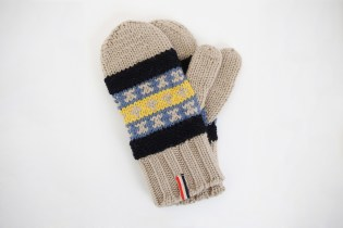 Moncler V Knitted Fair Isle Gloves
