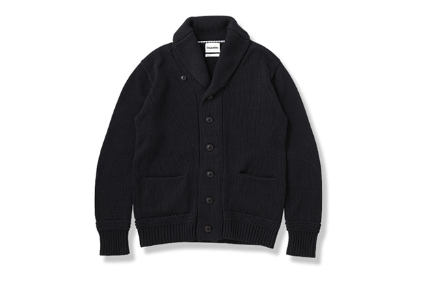 OriginalFake Cotton Shawl Collar Cardigan