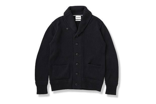 OriginalFake Cotton Shawl Collar Cardigan