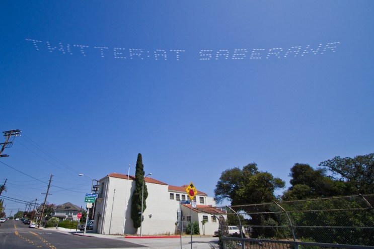 SABER: Plane Skywriting Over Los Angeles City Hall