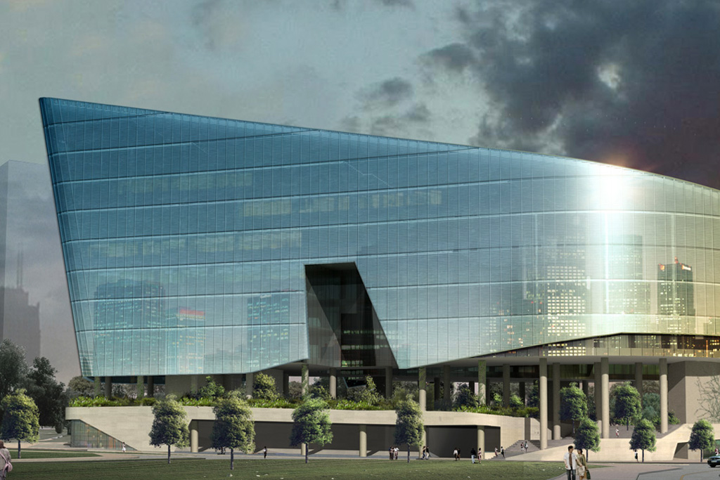 Sandcrawler-Inspired Building by Aedas for Lucasfilm