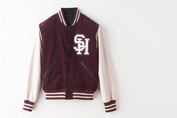Shipley & Halmos Wooden Reversible Varsity Jacket