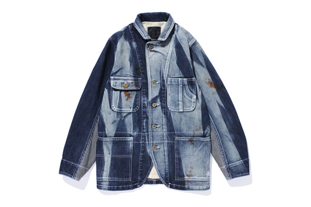 swagger washed denim cover all jacket