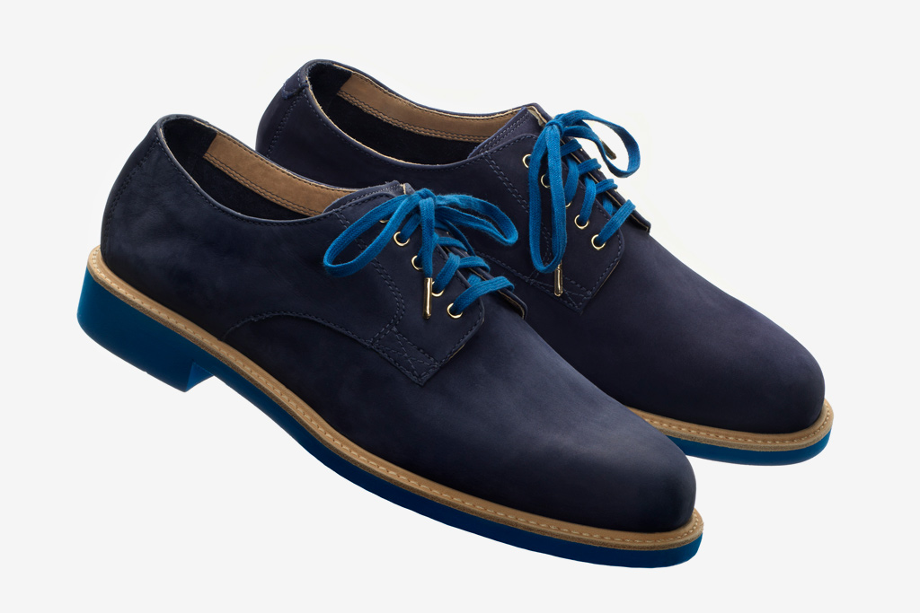 Theophilus London x Cole Haan Blue Suede Buck