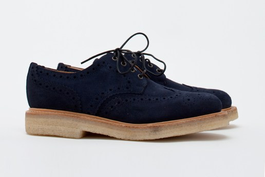 Très Bien Shop x Mark McNairy Navy Suede Country Brogue