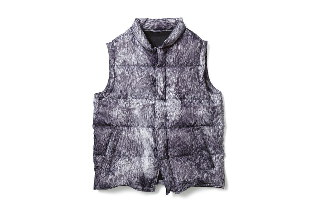 uniform experiment fur pattern down vest