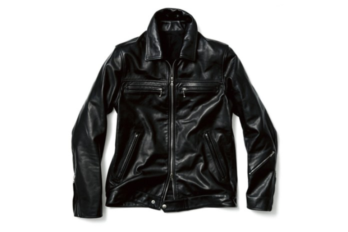 uniform experiment LEATHER SINGLE RIDERS BLOUSON