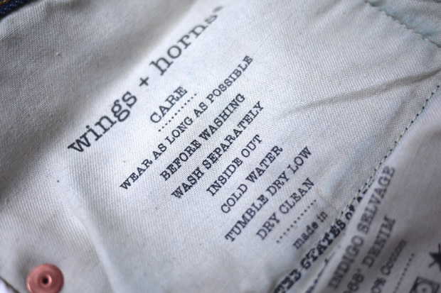 wings + horns 2011 Fall/Winter Selvage Denim Collection