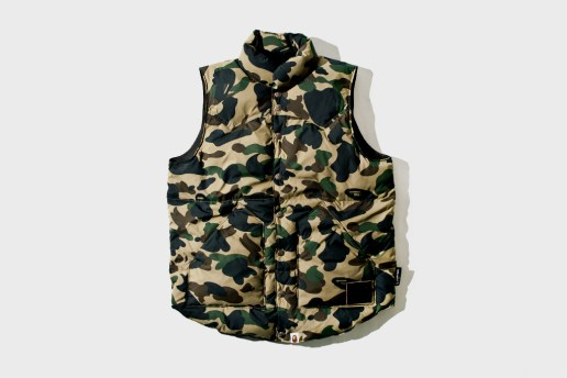 A Bathing Ape 1ST CAMO DOWN VEST