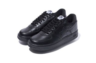 A Bathing Ape GLASS LEATHER BAPE STA