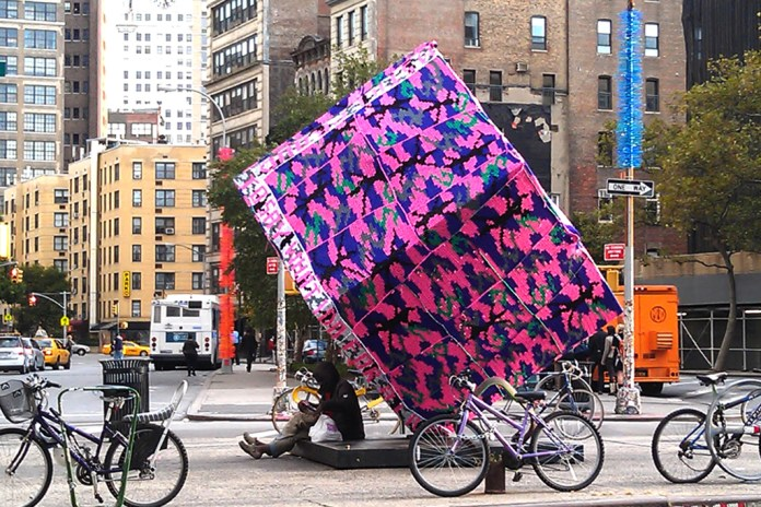 Astor Place Cube by Olek