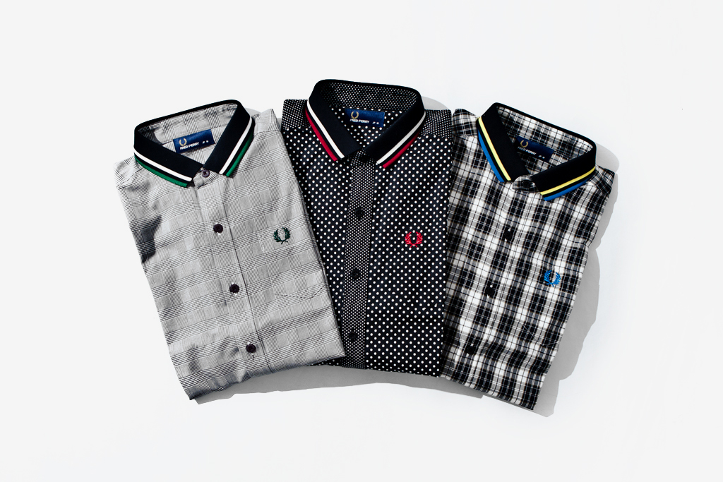 beams x fred perry 34 length shirts
