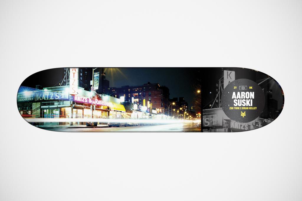 "Brian Kelley for Zoo York ""The Streets of New York"" Skateboard Decks"