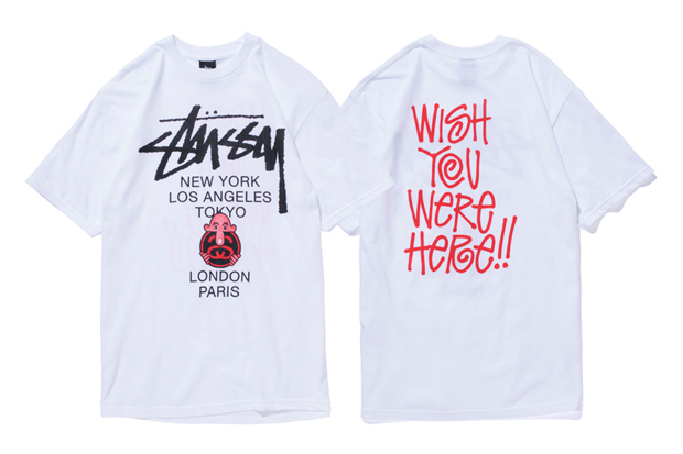 """Eric Elms x Stussy """"Wish You Were Here"""" T-Shirts"""