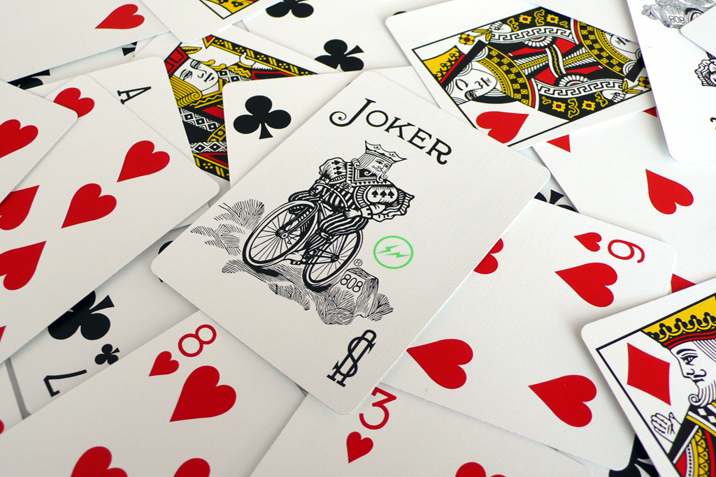 fragment design x bicycle irregular playing cards