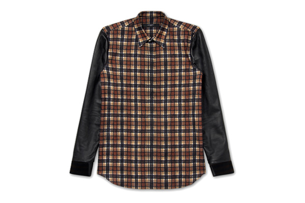 Givenchy Leather Sleeve Shirt