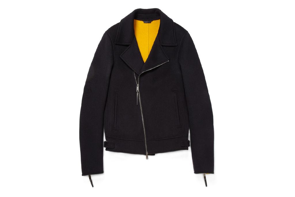 Jil Sander Zipped Wool Biker Jacket