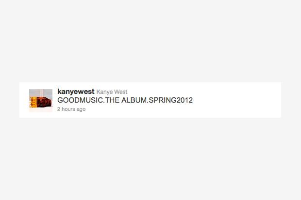 Kanye West Announces 2012 G.O.O.D. Music: The Album
