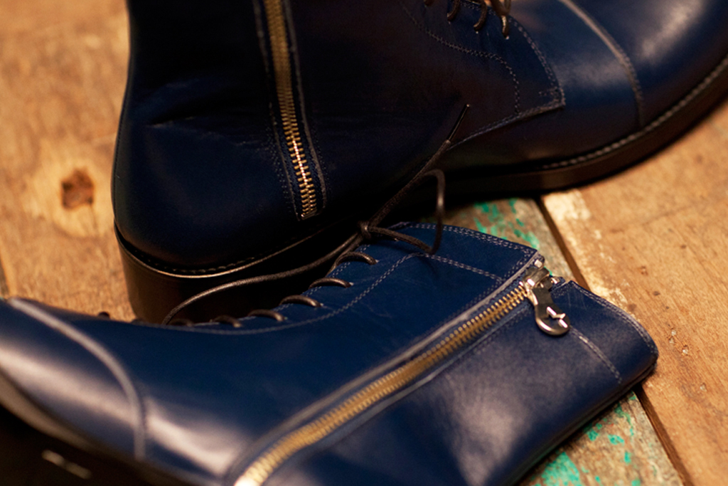 PHENOMENON Leather Cap Toe Boot