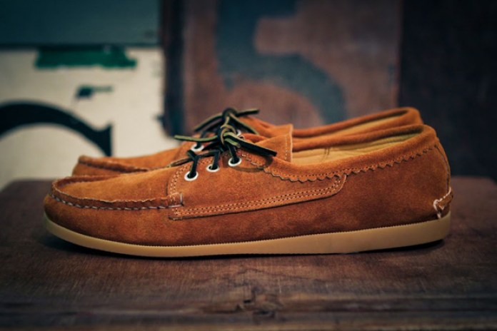 Quoddy Blucher Cognac Suede - Goodhood Exclusive