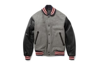 Rag & Bone Grey Wool-Blend Varsity Jacket