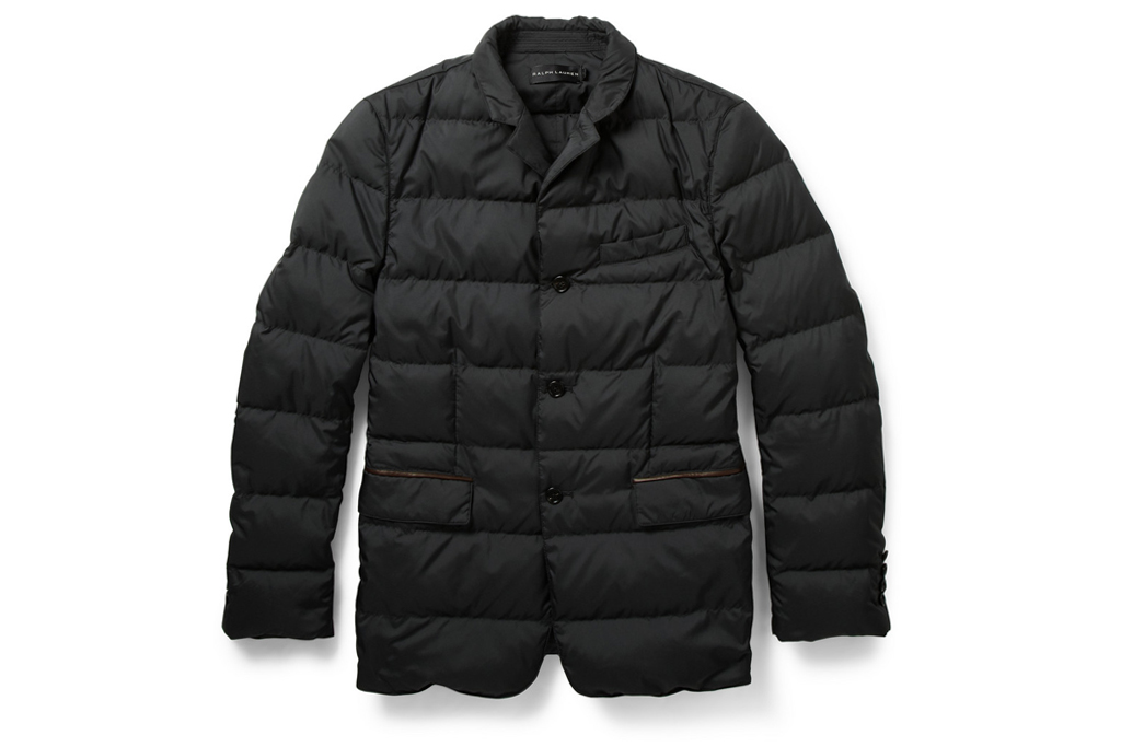 ralph lauren black label quilted down filled jacket