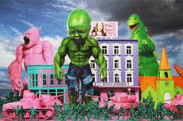 "Ron English ""Seasons In Supurbia"" Exhibition @ Corey Helford Gallery"