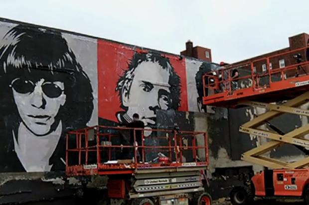 Shepard Fairey Paints Asbury Park