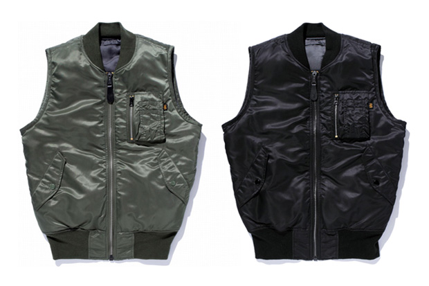 swagger x alpha industries ma 1 reversible vest