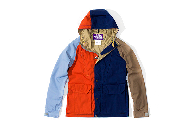 the north face purple label multi colored mountain parka