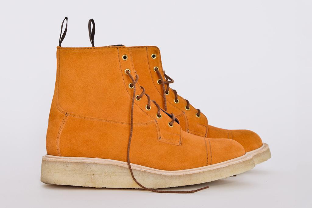 Très Bien Shop x Tricker's Orange Suede Super Boots