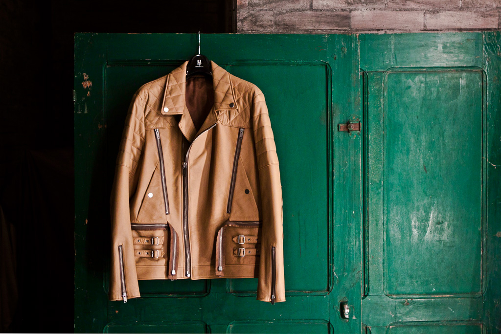 UNDERCOVER H4201-1 Leather Riders Jacket