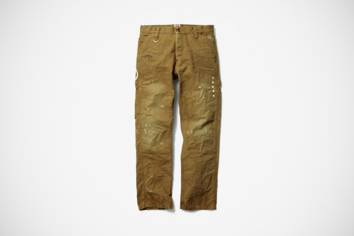 uniform experiment x Carhartt DAMAGED DOUBLE FRONT LOGGER PANT