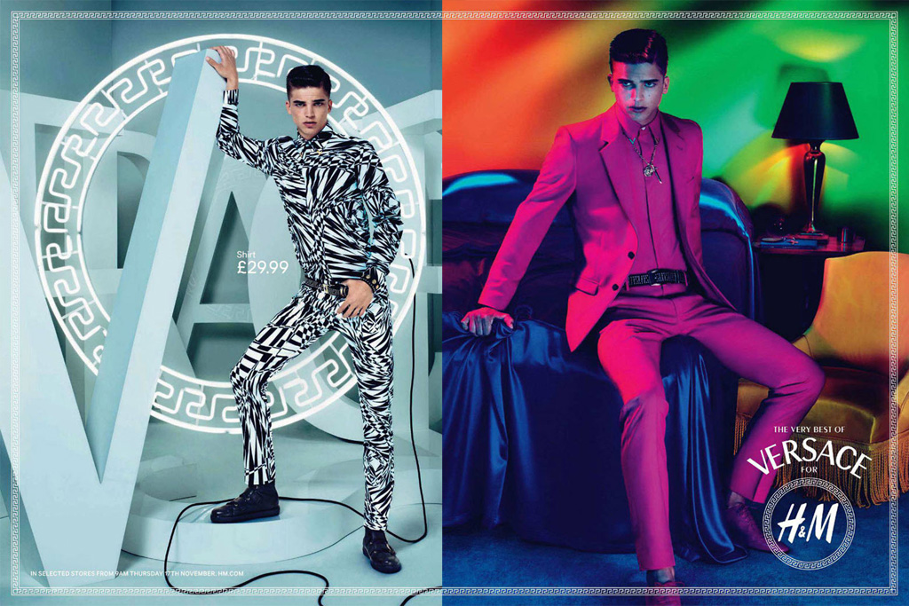versace for hm campaign preview