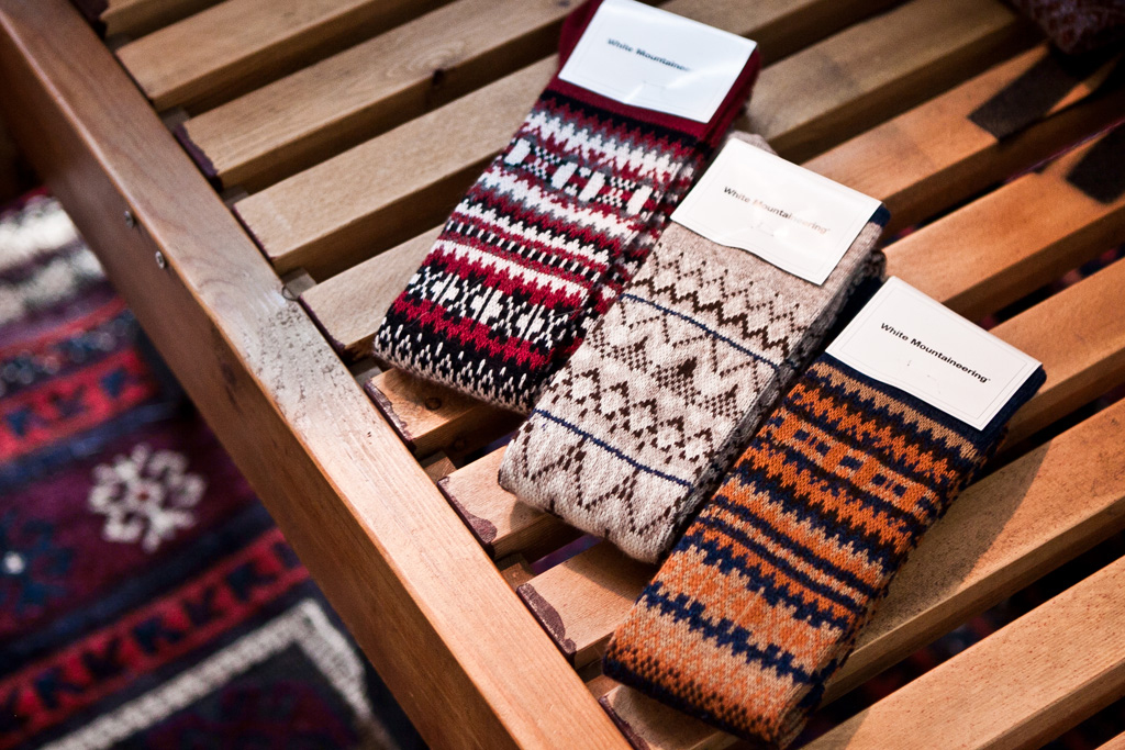 white mountaineering 2011 fallwinter pattern socks